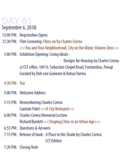 Schedule day 1